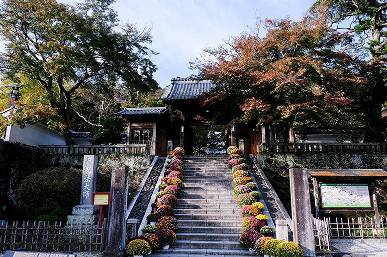 修善寺の表門。記念に1枚