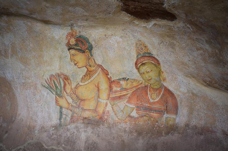 シギリヤレディーと呼ばれる壁画