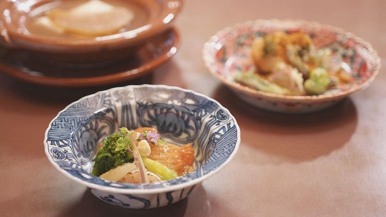 季節の食材、澄んだだし、フカヒレなど和食の域を超えた素材を巧みに組み合わせる「木乃婦(きのぶ)」の料理