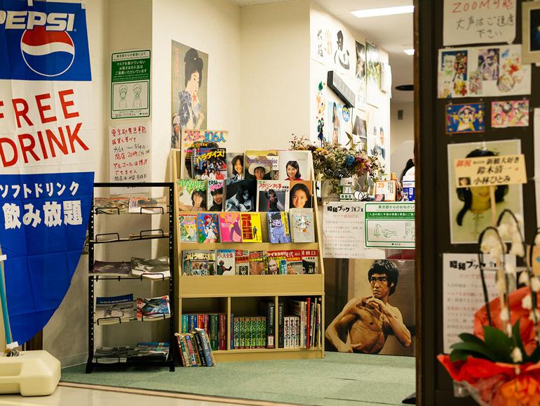 入り口にはブルース・リーの写真が