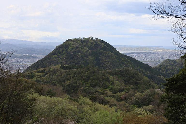 太閤ケ平から見る鳥取城