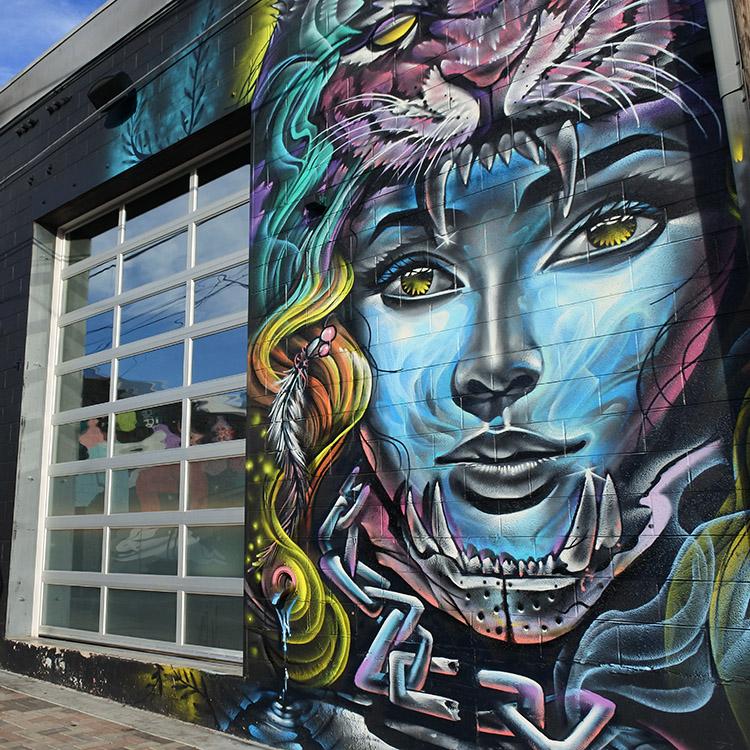 街のあちこちにストリートアート 若者カルチャーを発信 デンバー(2)
