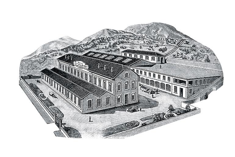 アレッシィの前身であるFAO創業(1921年)時代の社屋(Alessi提供)