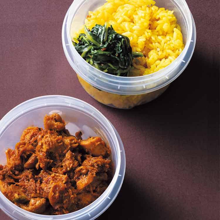 〈印度カリー子のスパイス弁当3〉カレー好きにはたまらない!「ドライチキンカレー弁当」