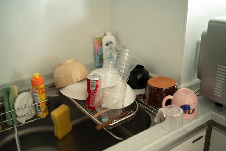 寮生活時代の習慣からか、長男は食器洗いはまめ