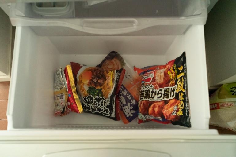 からあげなどの冷凍食品は、長男が購入