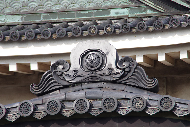 和歌山城天守の鬼瓦