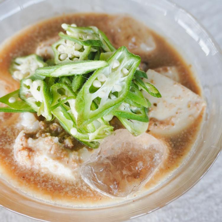 夏野菜たっぷりのお昼ごはん/オクラの冷や汁
