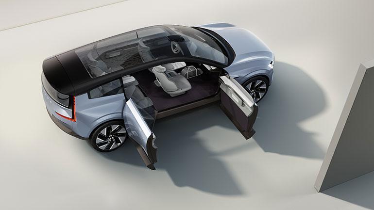 現行のプレミアムSUVモデルの代替車種になるといわれる「ボルボ・コンセプトリチャージ」はピュアEV