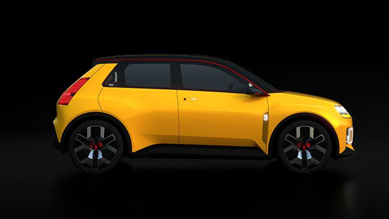 300万円を切る価格での販売が計画されているコンパクトEV「ルノー5」は往年のルノー5のスタイリングイメージを生かしたモデル