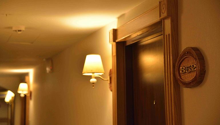 ホテルの中は、クラシカルなリゾートの雰囲気