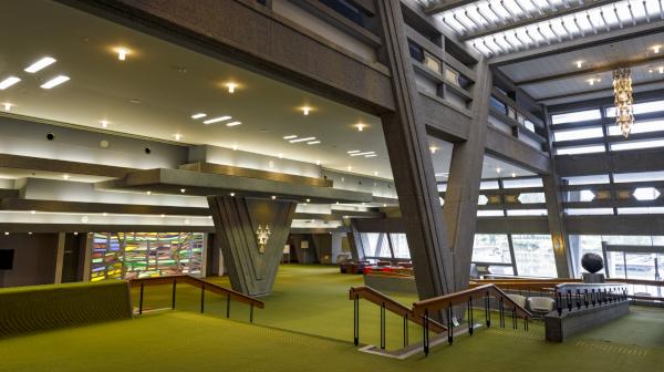 モダン建築でリモートワークも 「国際会館」を探訪