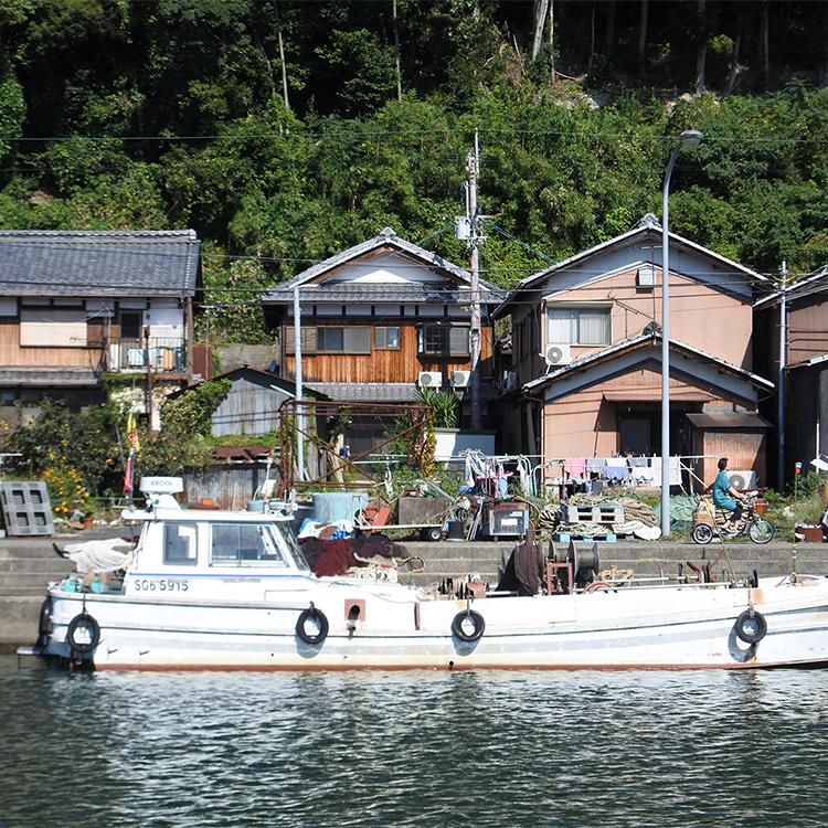 沖島の風景=滋賀県近江八幡市