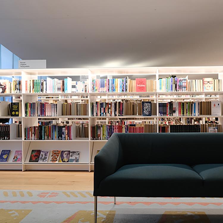 独立100周年の贈りもの リビングのような夢の図書館オーディ