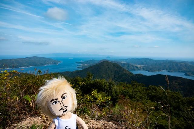 焼火山の山頂近くから望む壮大な景色