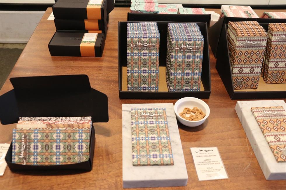 「ミルザム」が展開する中東のデザートをイメージしたという「エミラティコレクション」は、全5種。アラベスク模様など、パッケージのデザインも中東らしい
