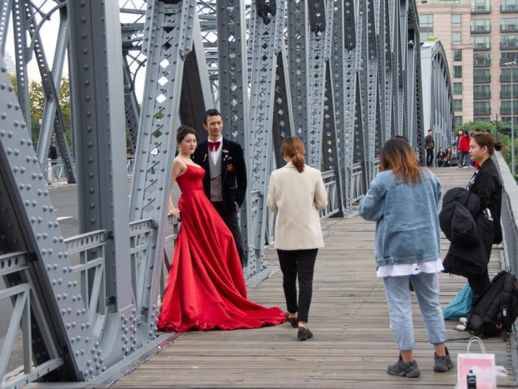 外白渡(ワイバイドゥ)橋。上海