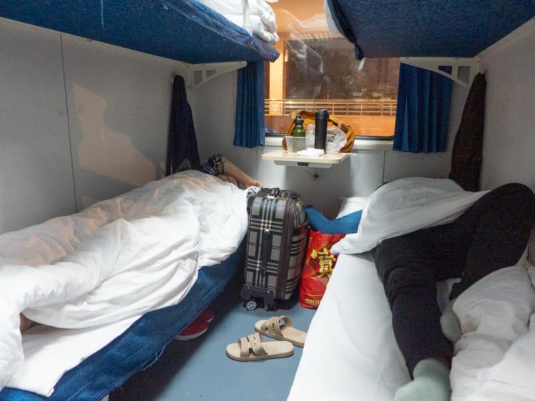 乗車した硬臥という2等寝台