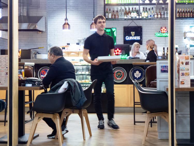 ウラジオストク空港内のレストラン