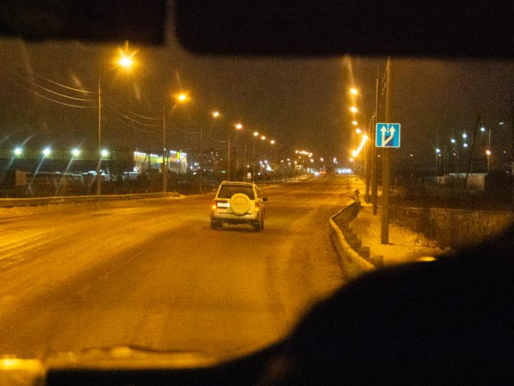 ユジノサハリンスク空港からタクシー