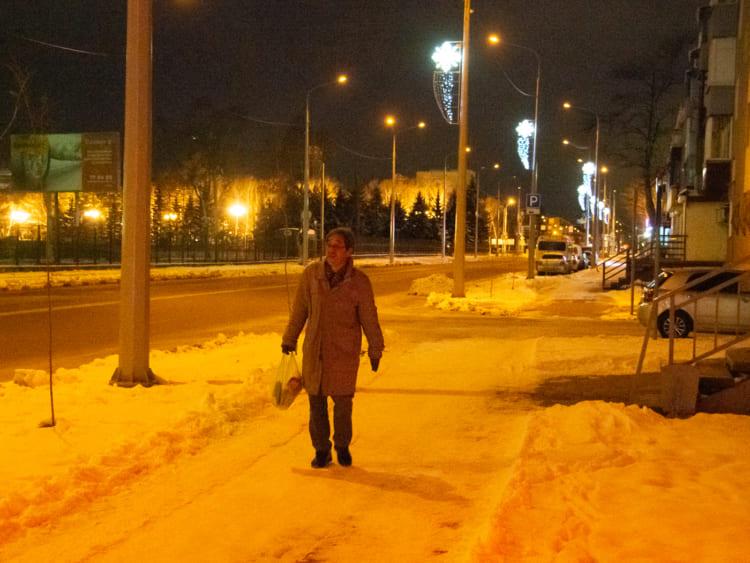 マイナス12度のユジノサハリンスクの街を歩く