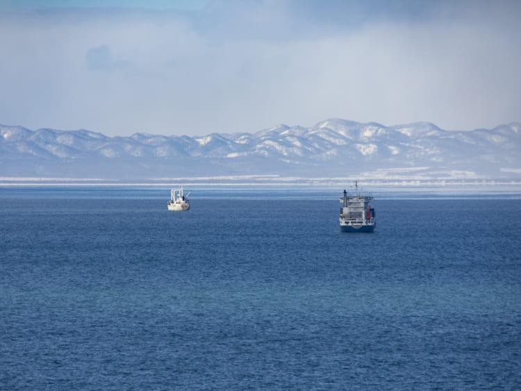 コルサコフの港が一望できる