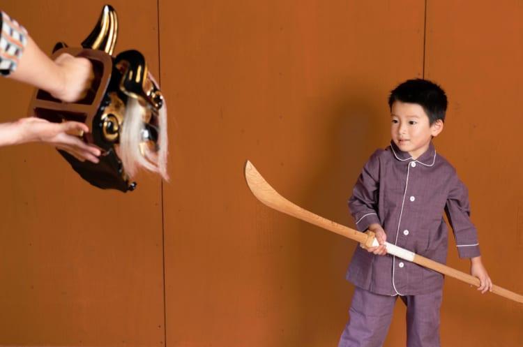 木製のなぎなたでしっかり練習。界 加賀