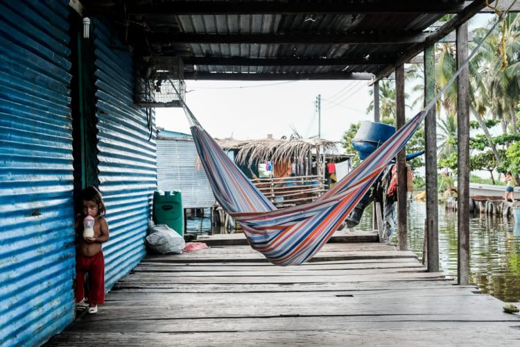ベネズエラの村人が昼寝をしていたというハンモック(提供=佐藤健寿)