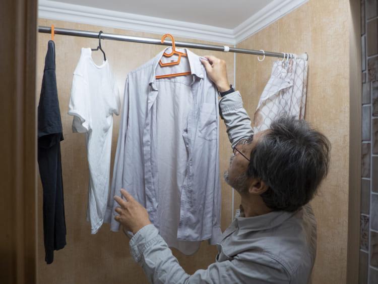 下川裕治、ロシアで洗濯物を干す