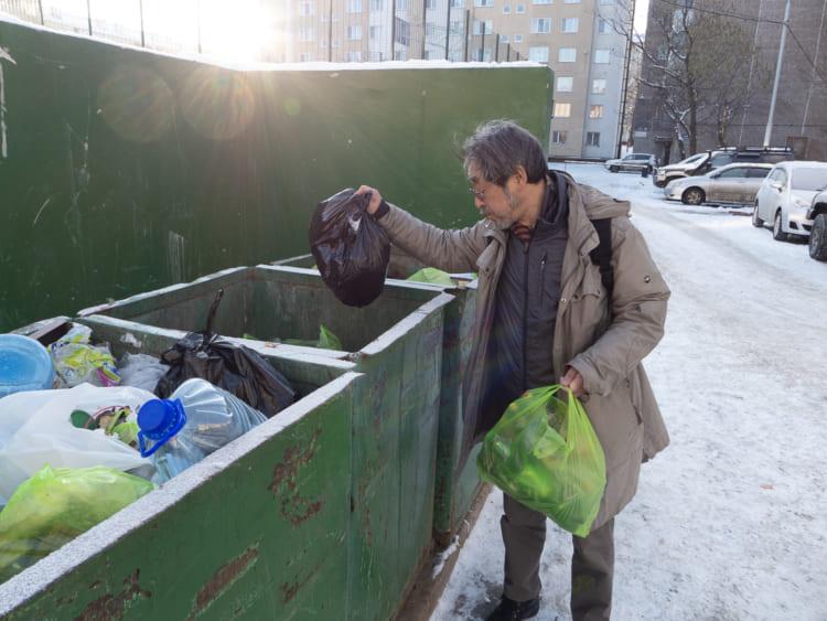 下川裕治、ロシアでゴミの分別
