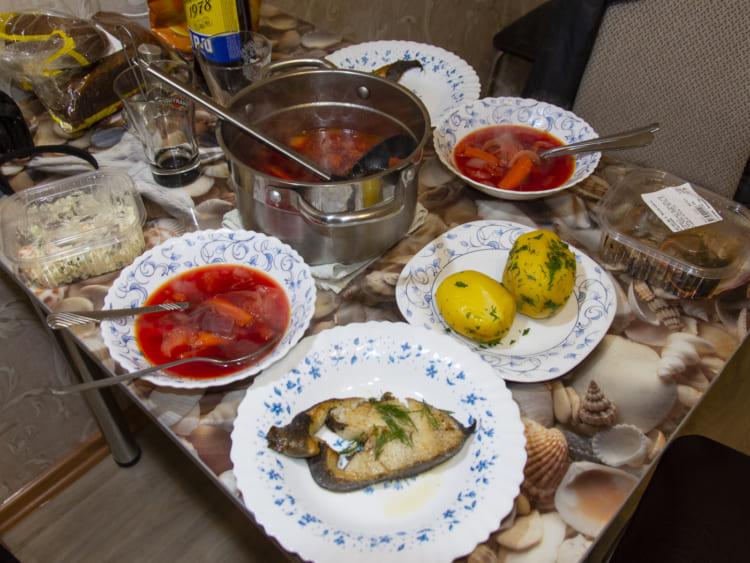 ユジノサハリンスク5日目の夕食