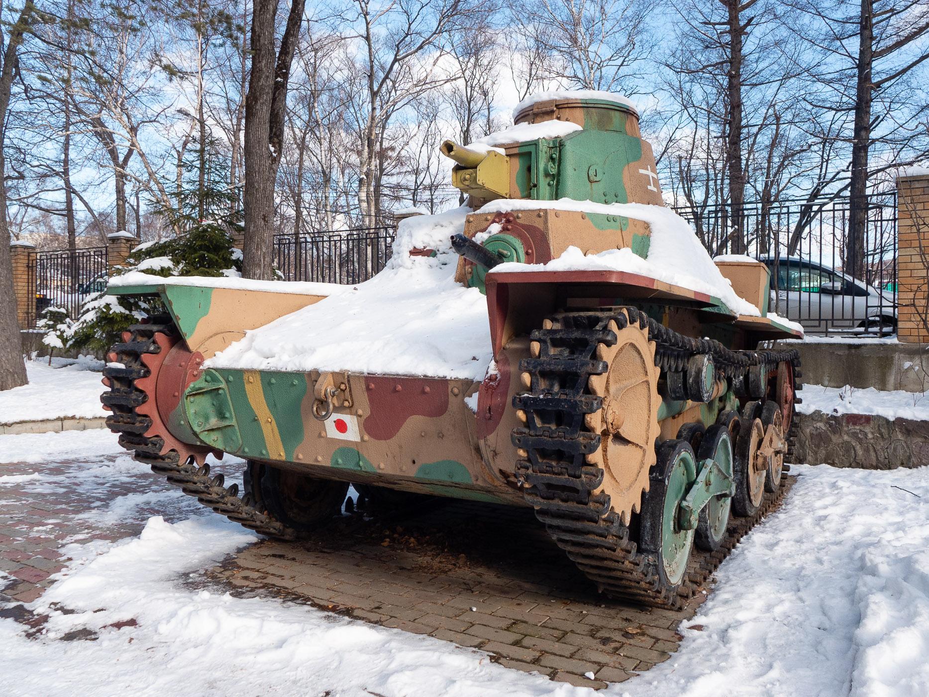 小型戦車の展示