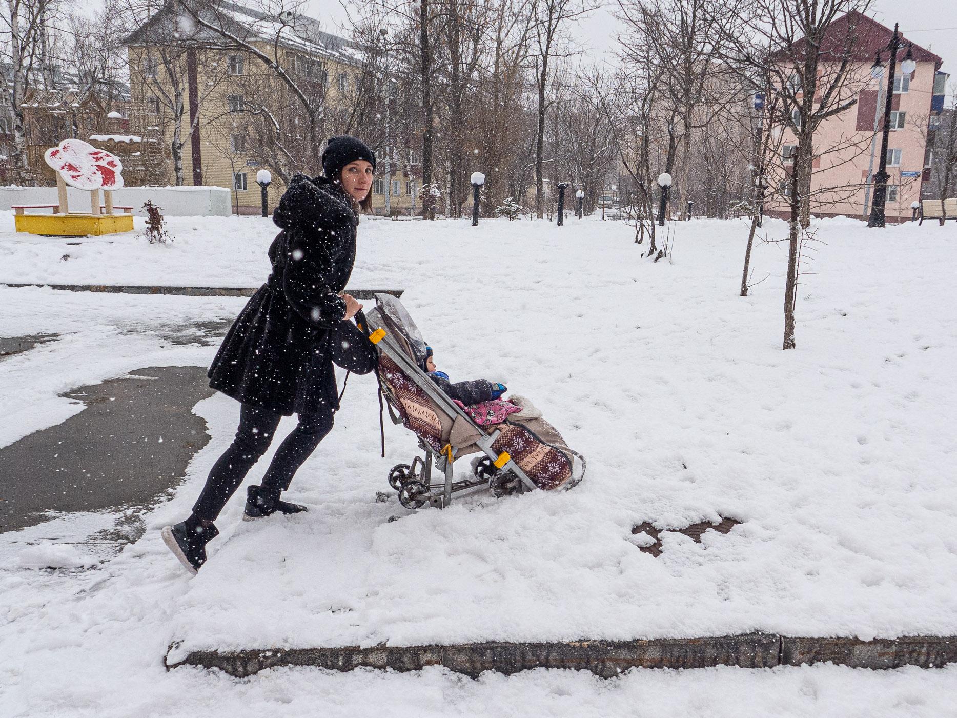 ユジノサハリンスクで見かけたベビーカー