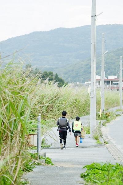 通学の子どもたち