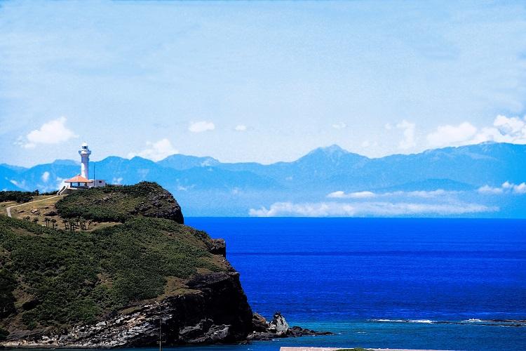 与那国島から見た台湾