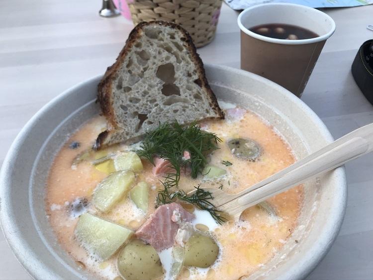クリームスープとグロッギ