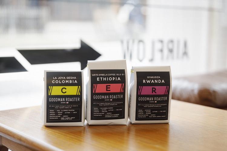 阿里山コーヒー以外にシングルオリジンの豆も取り扱う。どれも「Goodman Roaster」得意のライトローストで軽快な風味に仕上げている