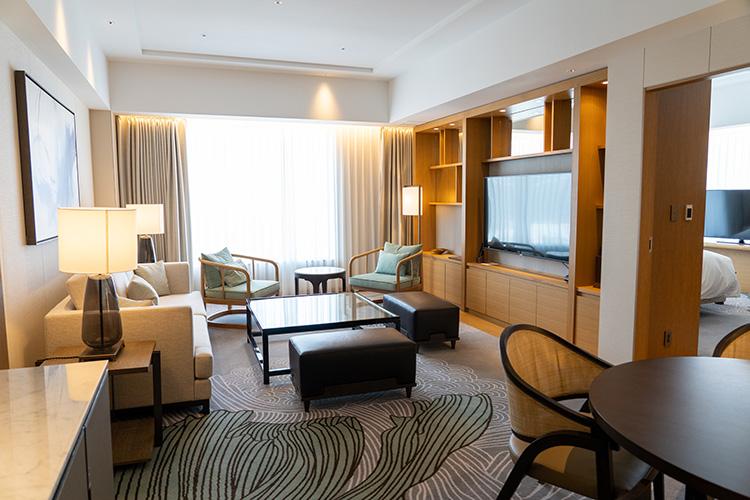 JWマリオット・ホテル奈良では角部屋がすべてスイート仕様になっています