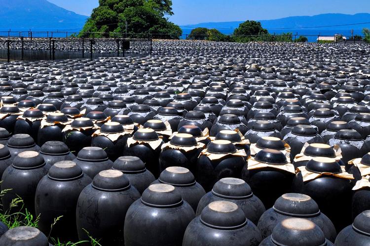 壺の中で黒酢が造られます(画像提供:坂元醸造)