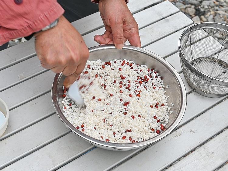 もち米と小豆