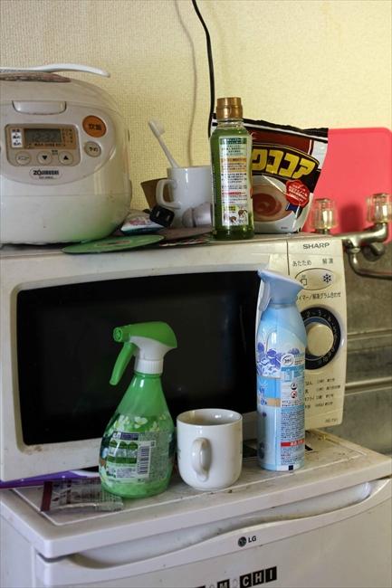 汚れた皿をそのままにしておくとすぐ部屋中に臭うので、消臭剤があちこちに