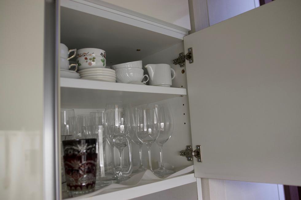 食器棚はディノスで買った幅88センチのぴったりサイズ