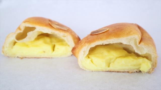 バニラクリームパン断面