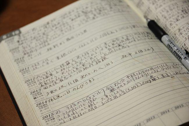 10年日記をつけている。育児記録から来客にもてなした料理、家族の健康歴まで明細に