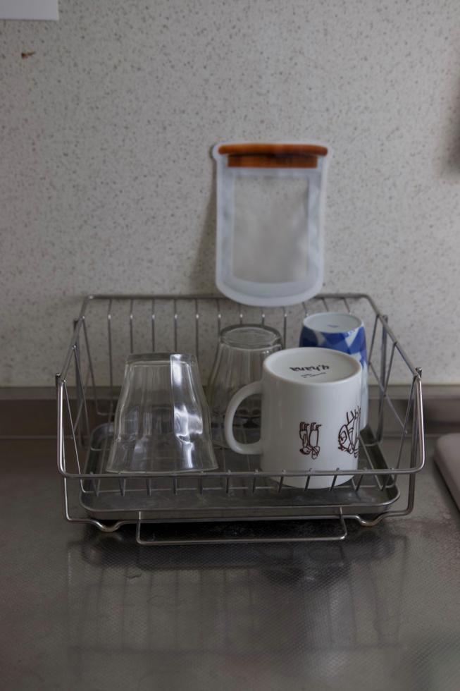 食器洗いかごも20年愛用