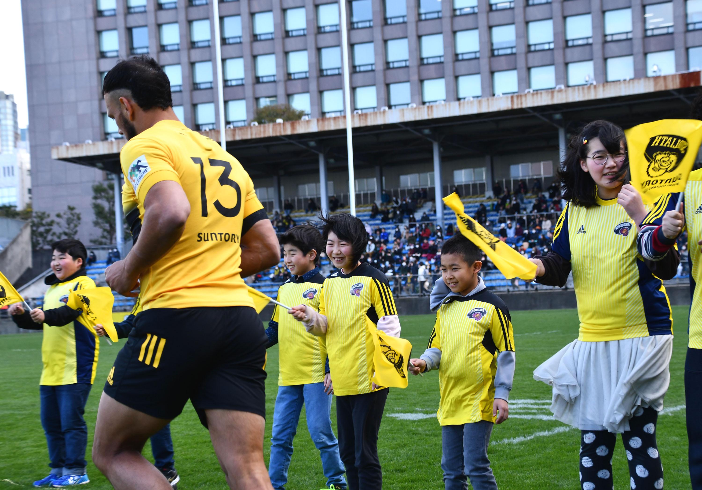 W杯台風中止の悔しさを東京で 岩手の小中学生らラグビー観戦
