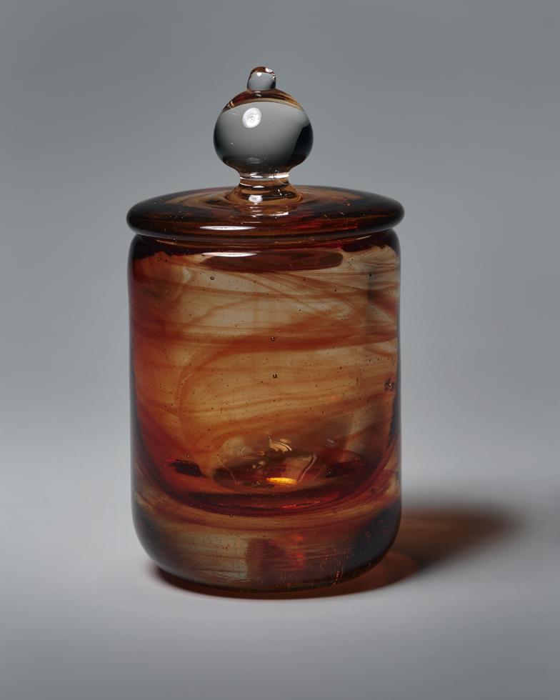 円筒蓋物 H20.9×W9cm