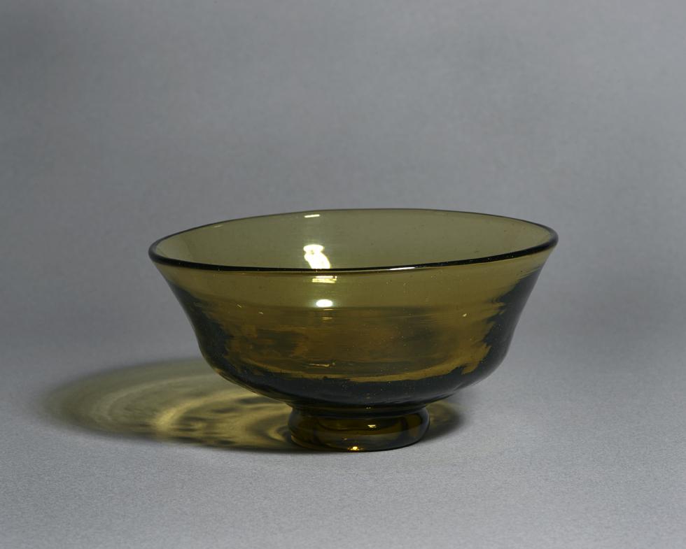 あめ色高台付鉢 H6.5×W12.5cm