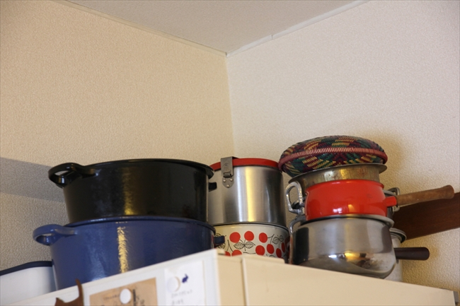 ル・クルーゼのオーバル、インドのカレー鍋、ベトナムのアルミ鍋、北欧のホウロウ鍋など、趣もさまざまな鍋