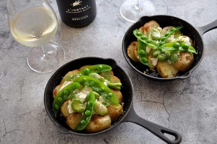 春野菜とシェーブルのグリルに、さわやかソーヴィニヨン・ブランを合わせて